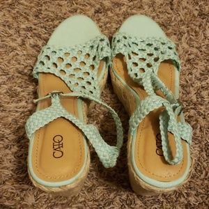 Cato Mint green Wedges
